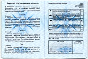 international drivers licence pages